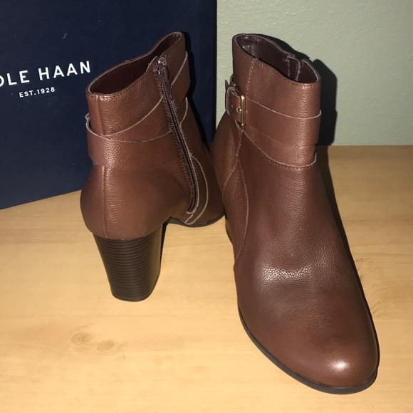 Cole Haan Shoes - Cole Haan Brown Booties, New IOB